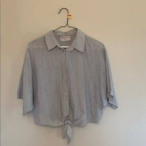 Modern Citizen size small short sleeve tie blouse
